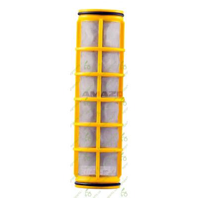 Фільтр сітчатий D58mm H=210mm 80maschen жовтий