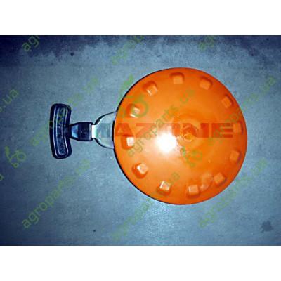 Диск очисний оранжевий D228mm лівий в зборі з ручкою (MB)